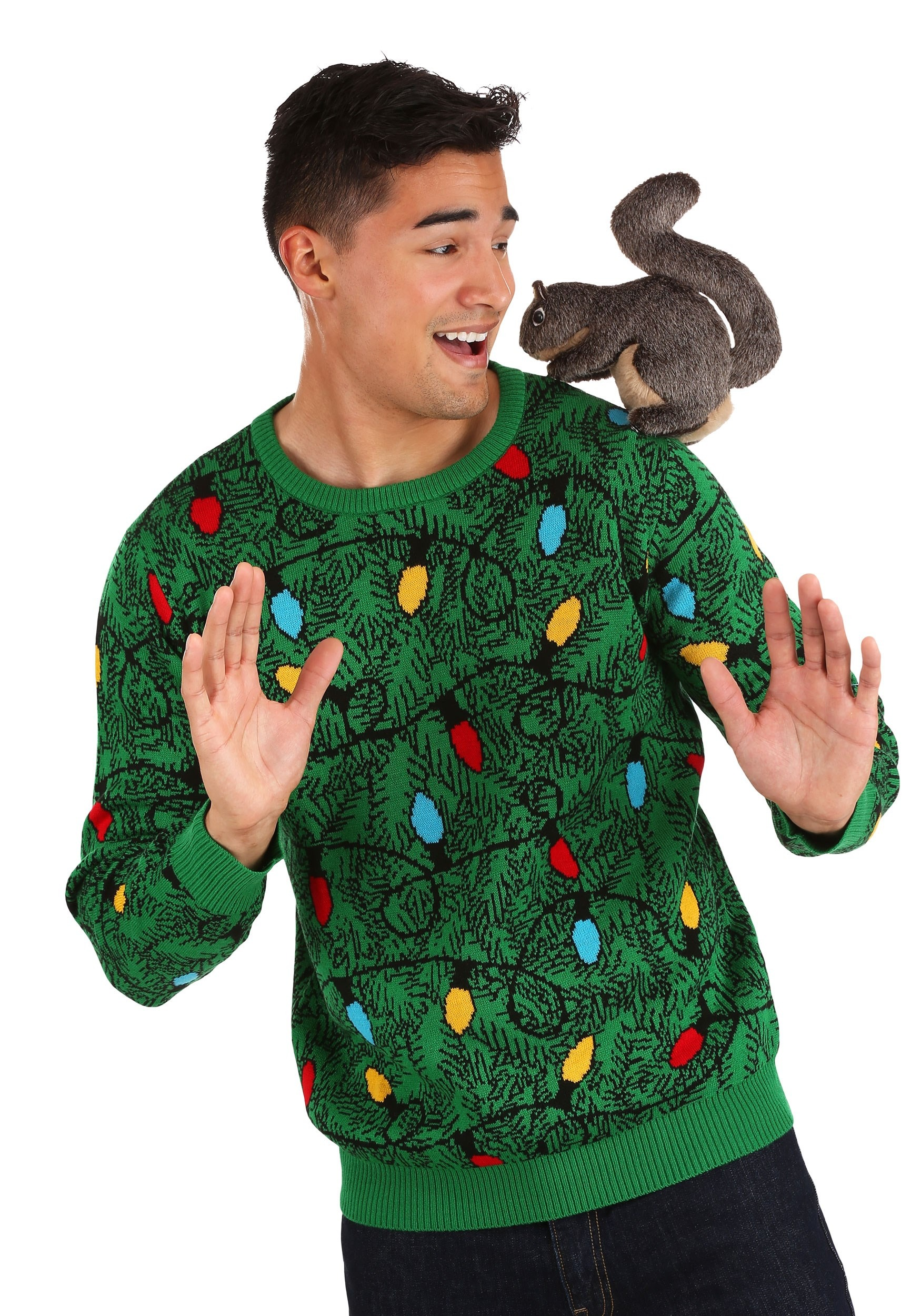 Squirrel in the Christmas Tree Ugly Sweater Adult 3D