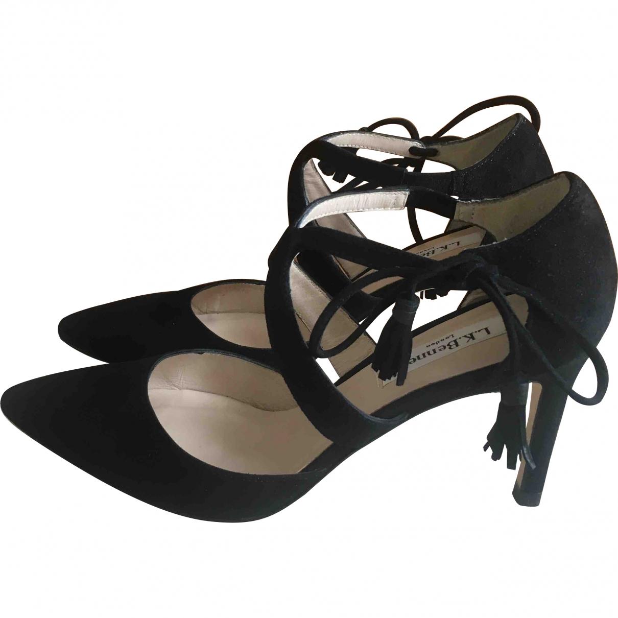 Lk Bennett \N Black Velvet Heels for Women 36.5 EU