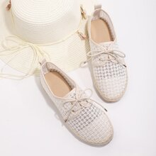Lace-up Front Espadrille Flats