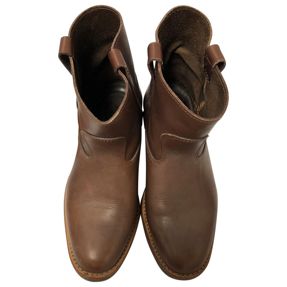 La Botte Gardiane - Boots   pour femme en cuir - marron