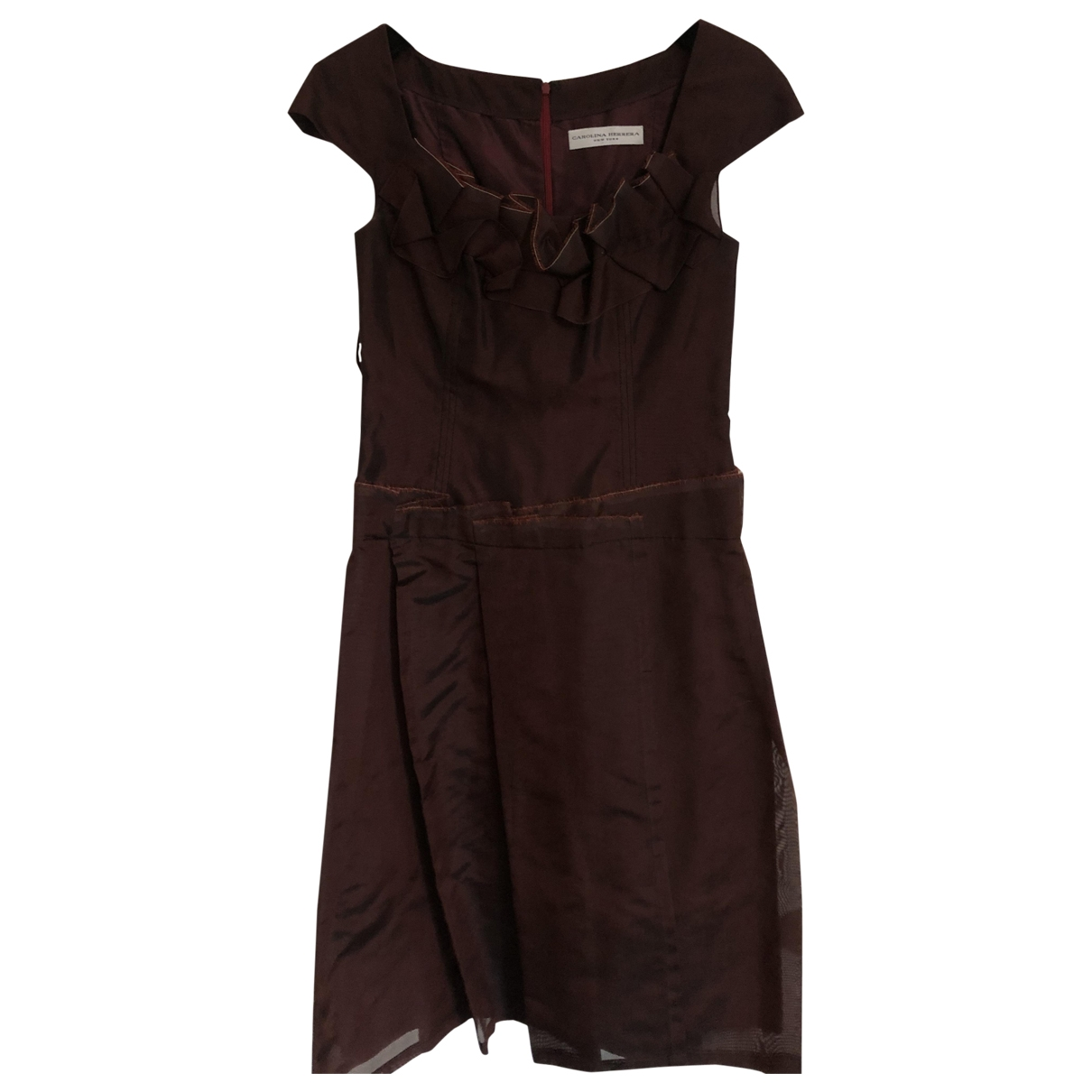 Carolina Herrera \N Burgundy Silk dress for Women 6 US