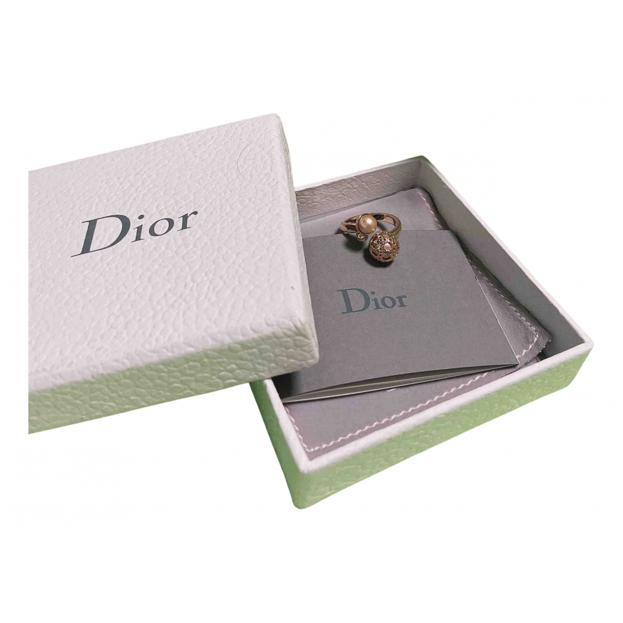Dior \N Ring in  Gold Kristall