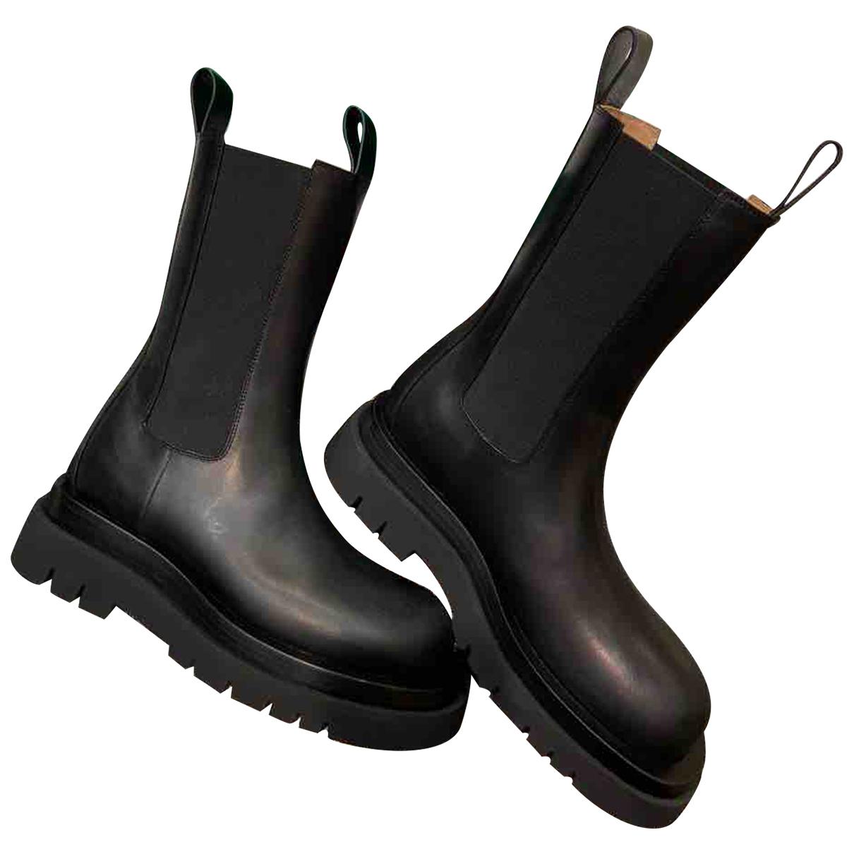 Bottega Veneta - Boots   pour femme en cuir - noir