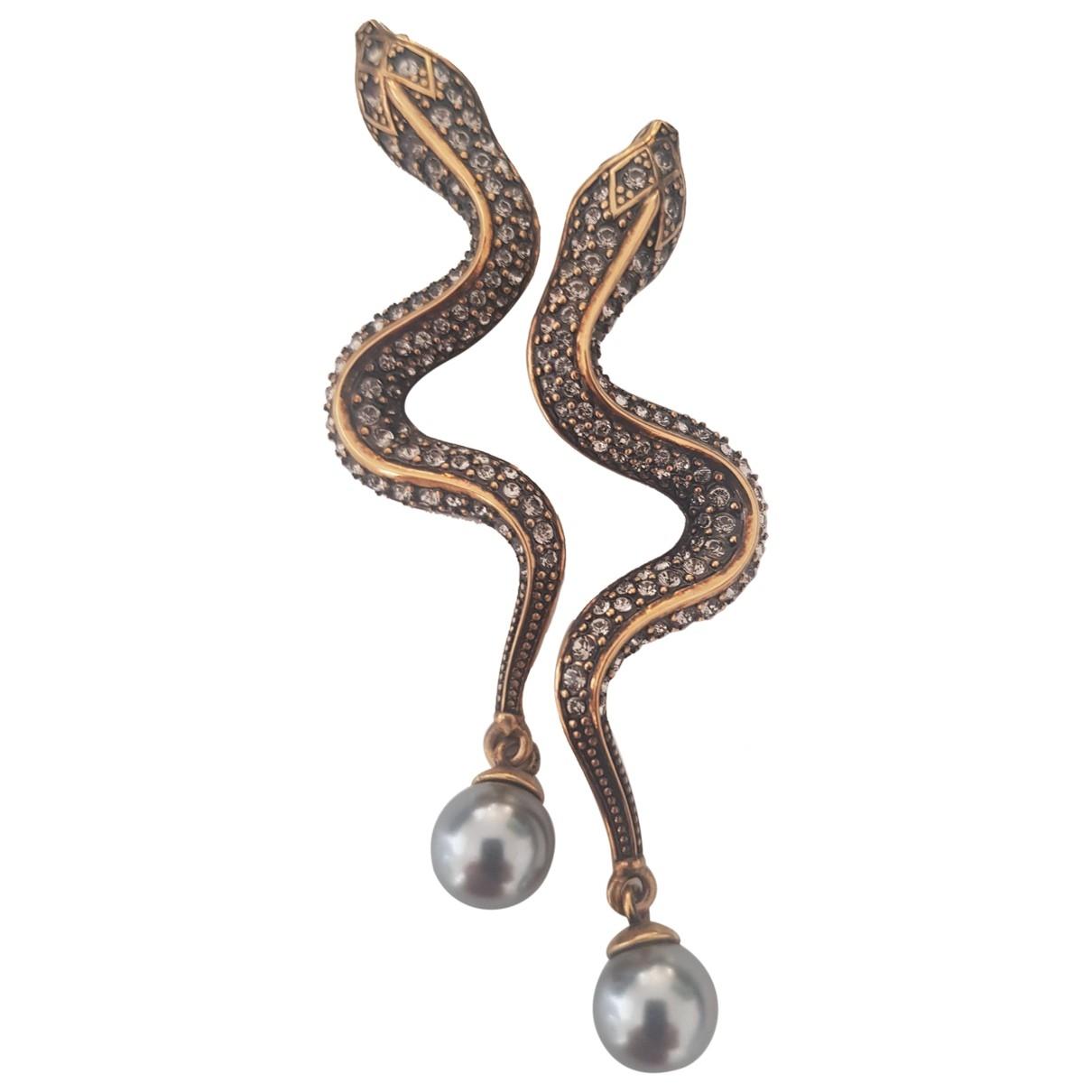 Roberto Cavalli - Boucles doreilles   pour femme en metal - dore