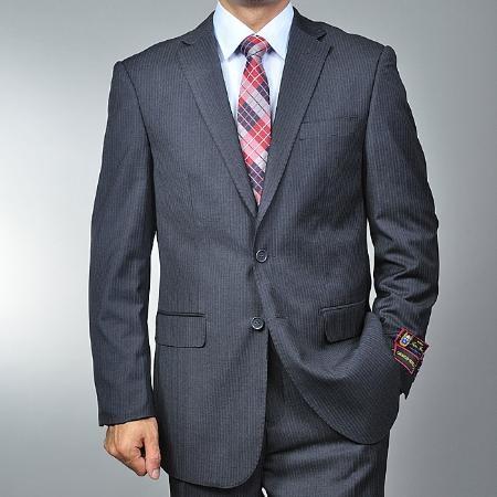 2 Button Charcoal Grey Suit Mens Cheap