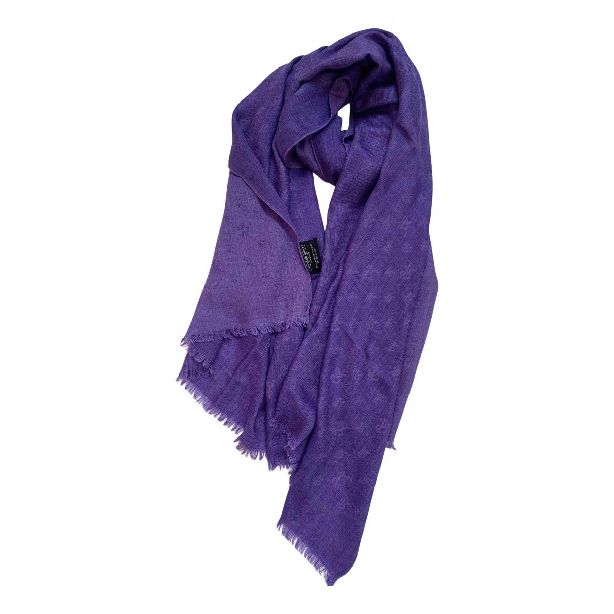 Stefano Ricci - Foulard   pour femme en soie - violet