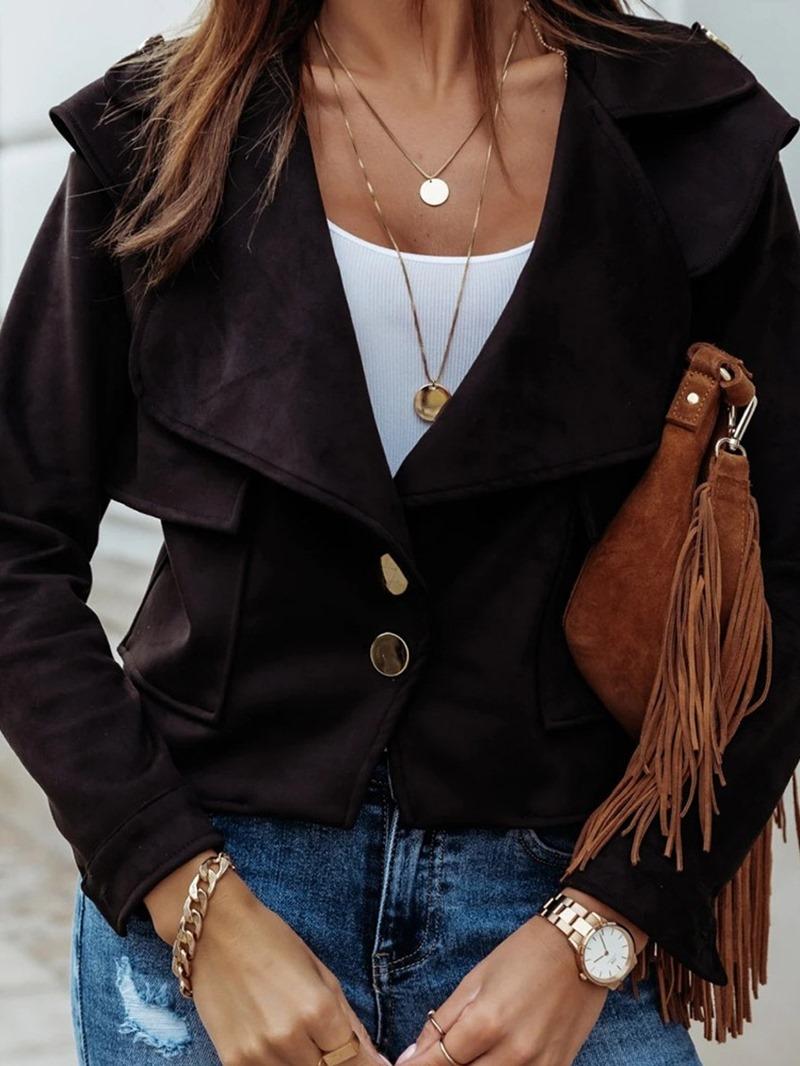 Ericdress Slim Single-Breasted Long Sleeve Regular Standard Jacket