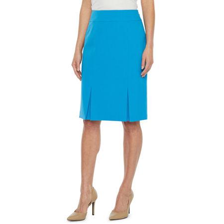 Black Label by Evan-Picone Suit Skirt, 18 , Blue