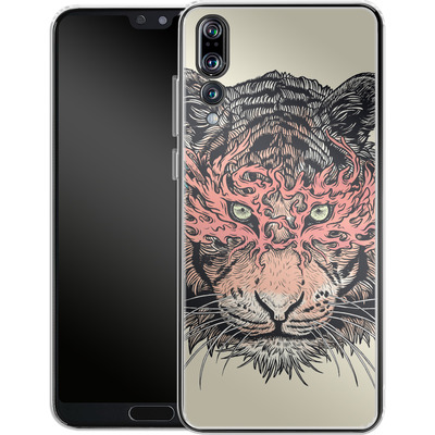 Huawei P20 Pro Silikon Handyhuelle - Masked Tiger von Mat Miller