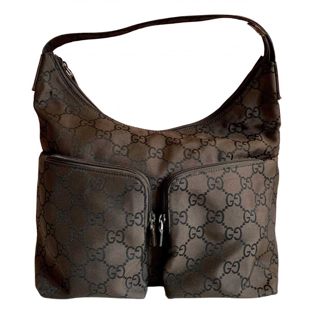Gucci - Sac a main   pour femme en coton - marron