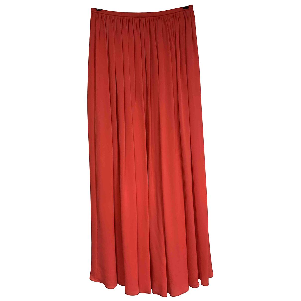 Giorgio Armani N Red Silk skirt for Women 42 IT