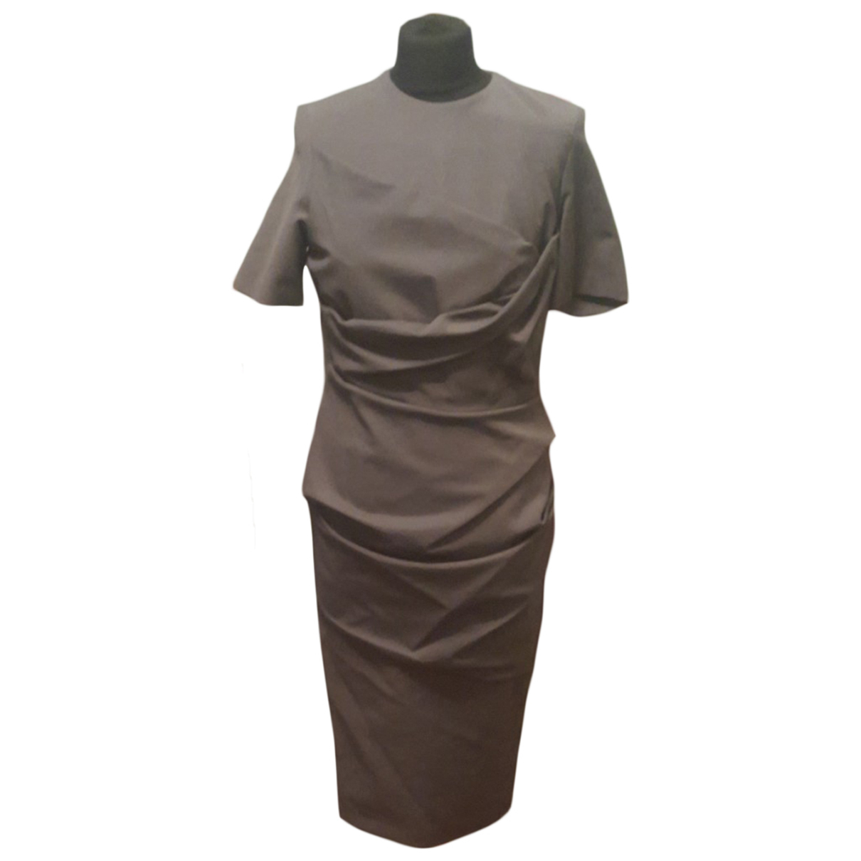 Freda - Robe   pour femme en coton - elasthane - gris