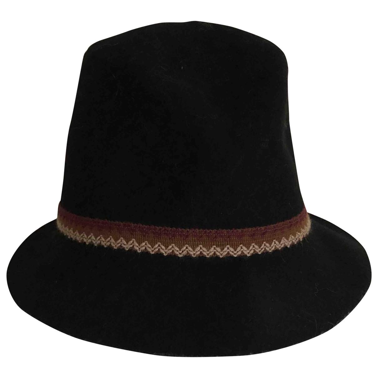 Pomandere - Chapeau   pour femme en laine - noir