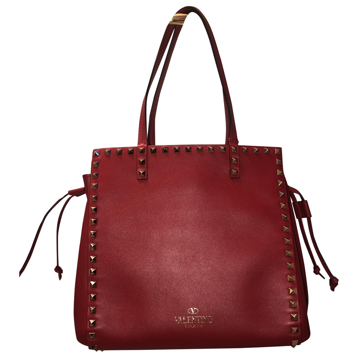 Valentino Garavani Rockstud Red Leather handbag for Women \N