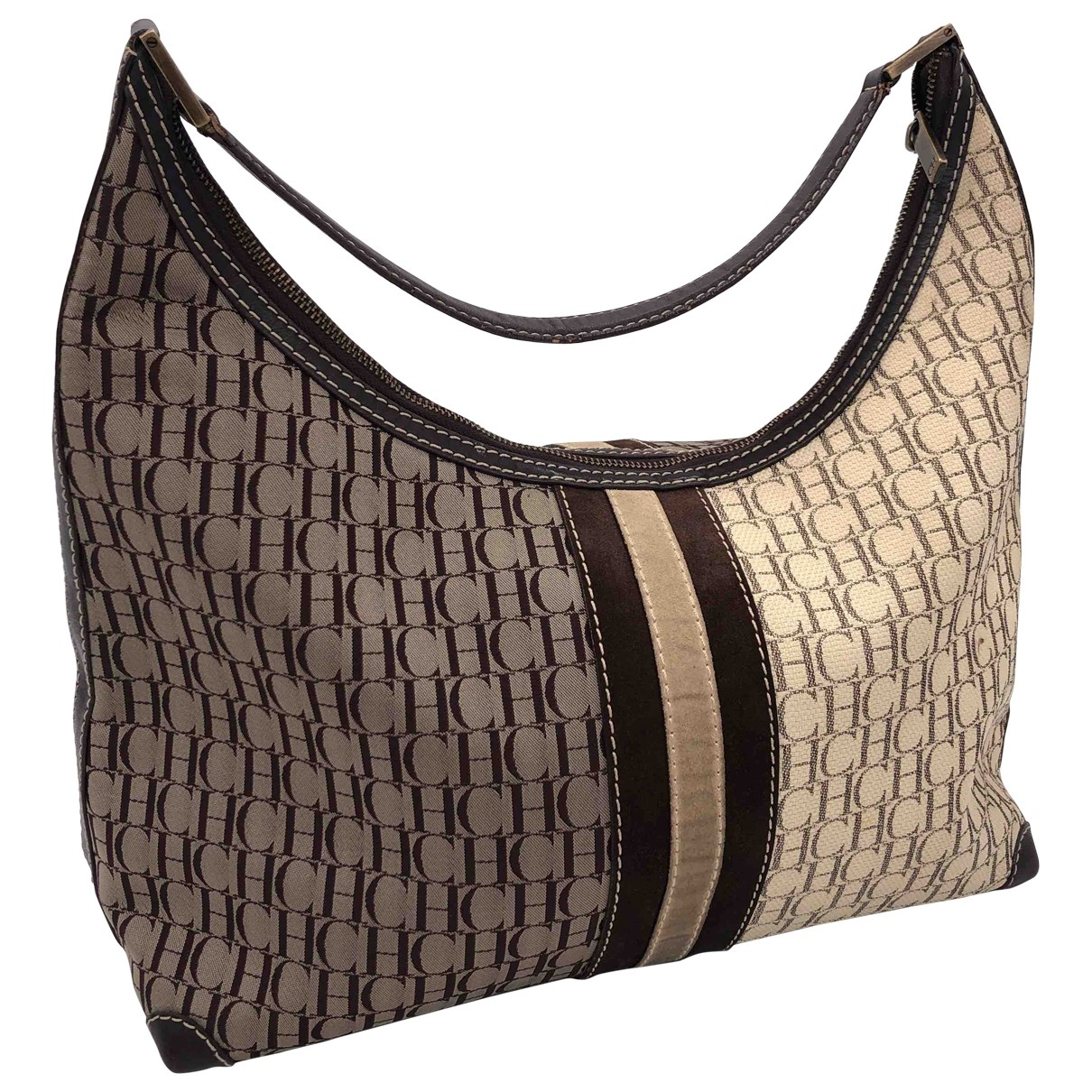 Carolina Herrera \N Brown Cloth handbag for Women \N