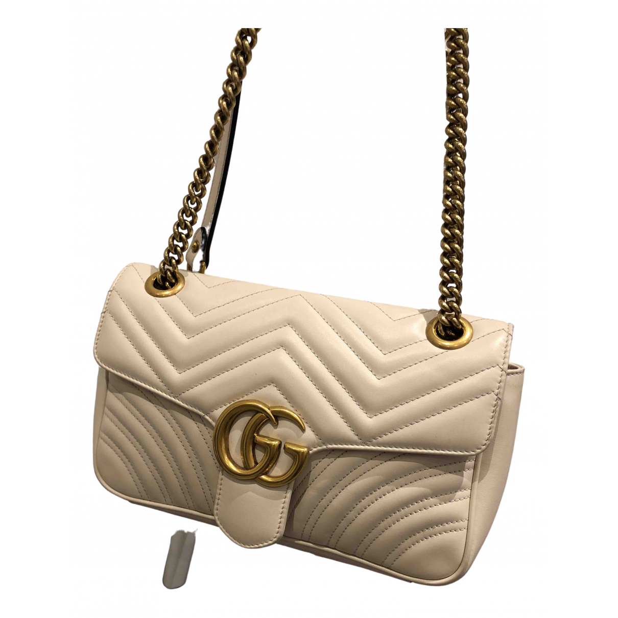 Gucci Marmont White Leather handbag for Women N