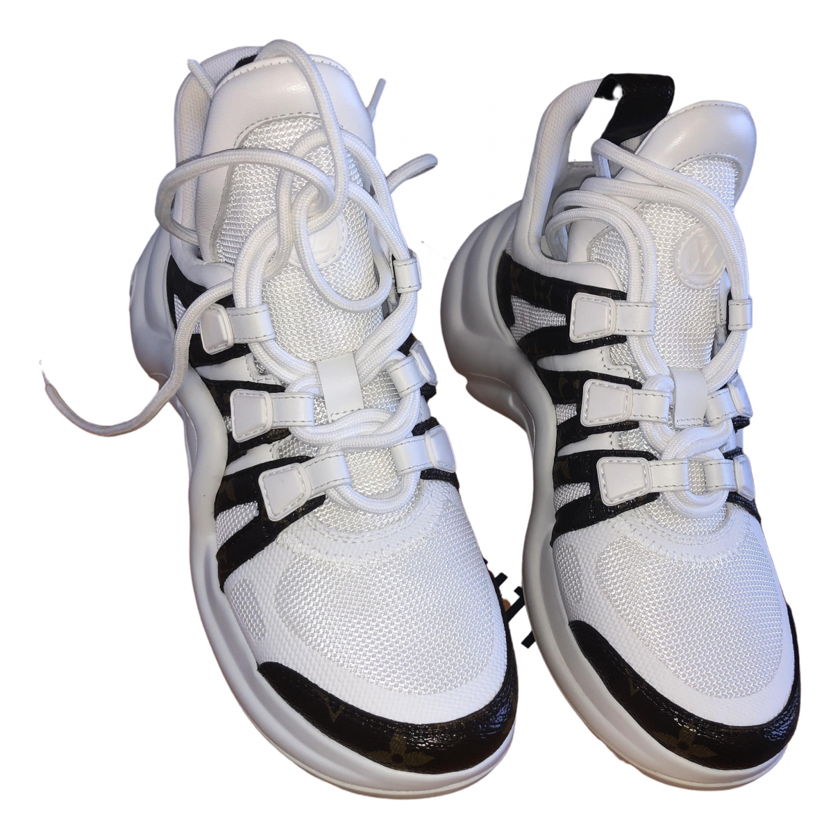 Louis Vuitton Archlight White Patent leather Trainers for Women 36 EU