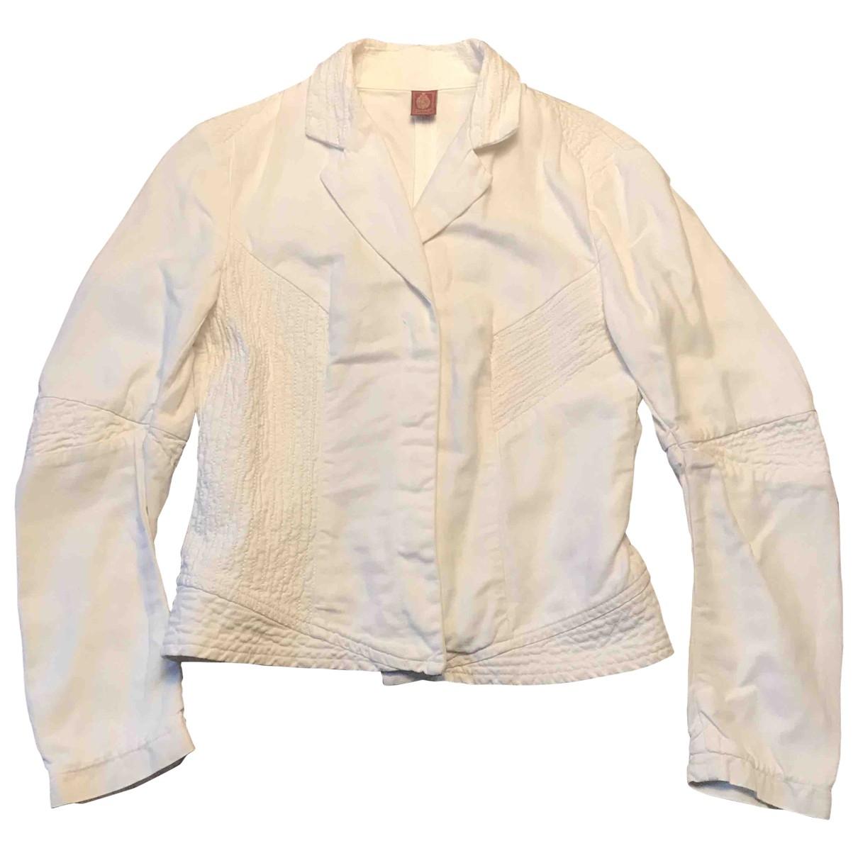 Dondup - Veste   pour femme en coton - blanc