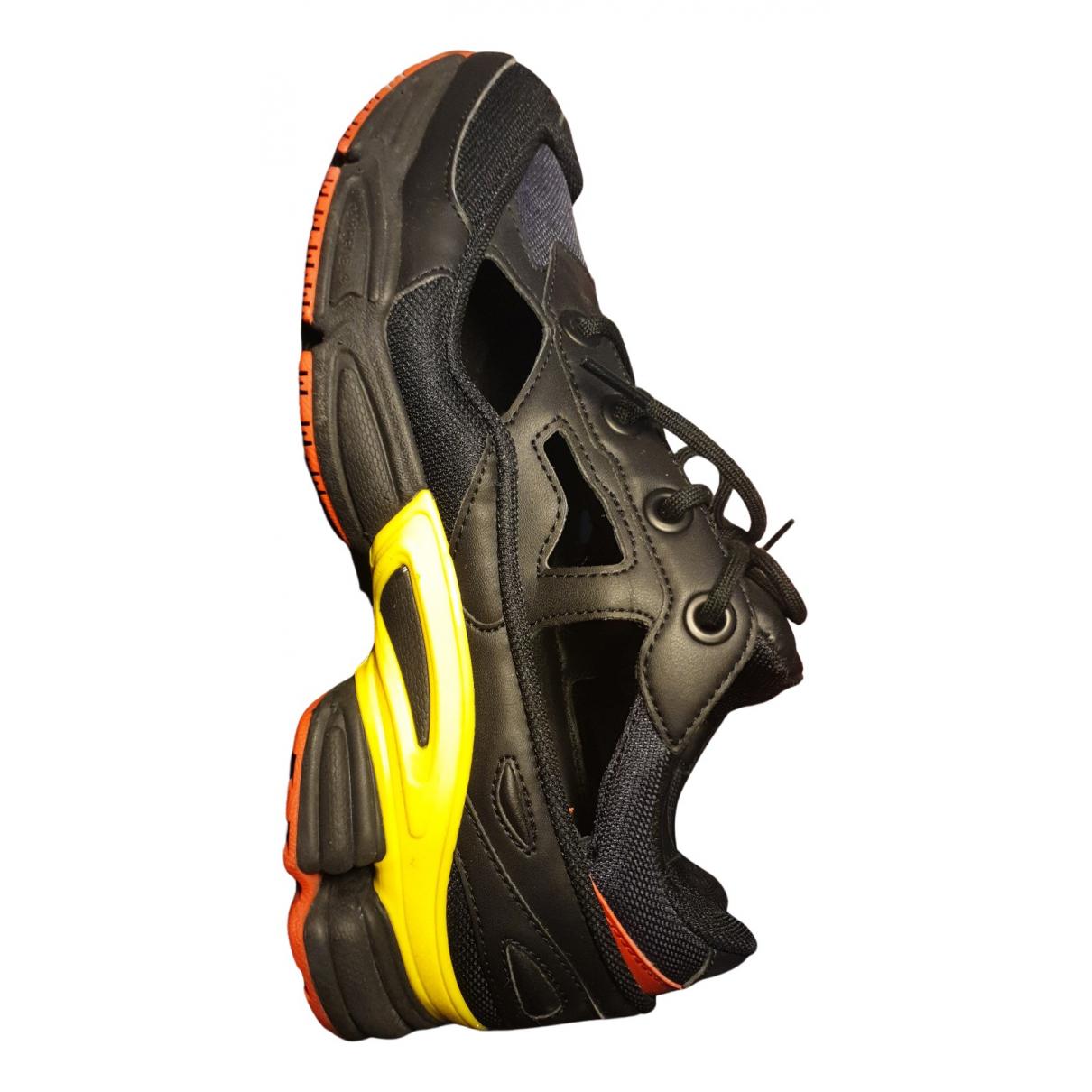 Adidas X Raf Simons - Baskets Replicant Owzeego pour homme en cuir - noir