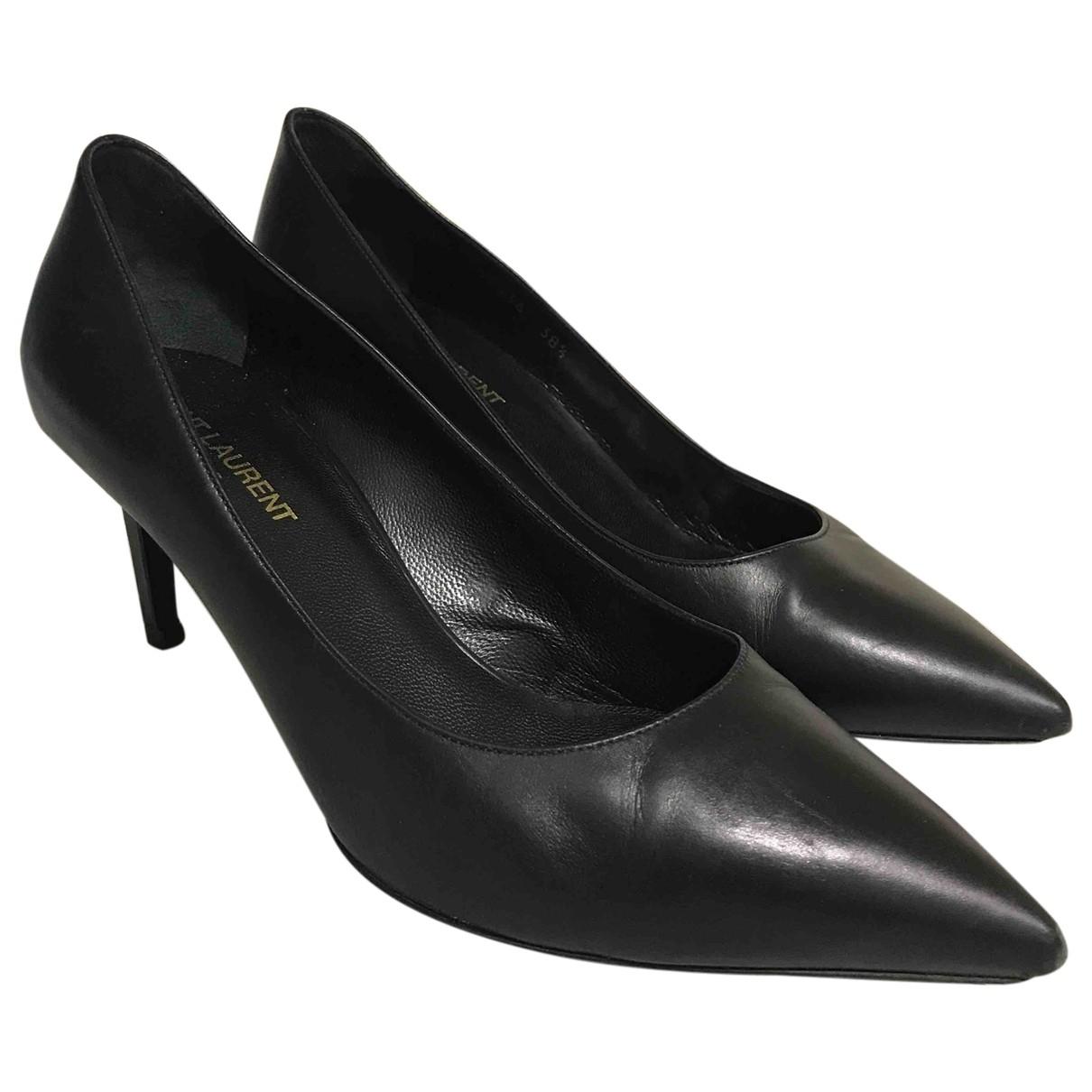 Saint Laurent - Escarpins Anja pour femme en cuir - noir