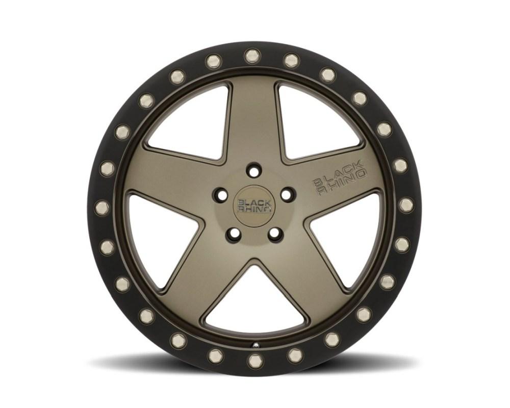 Black Rhino Crawler Matte Bronze w/ Black Lip Ring Wheel 20x9.5 5x150 12mm CB110.1