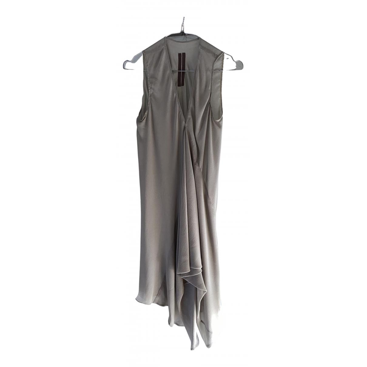 Rick Owens - Top   pour femme en soie - gris