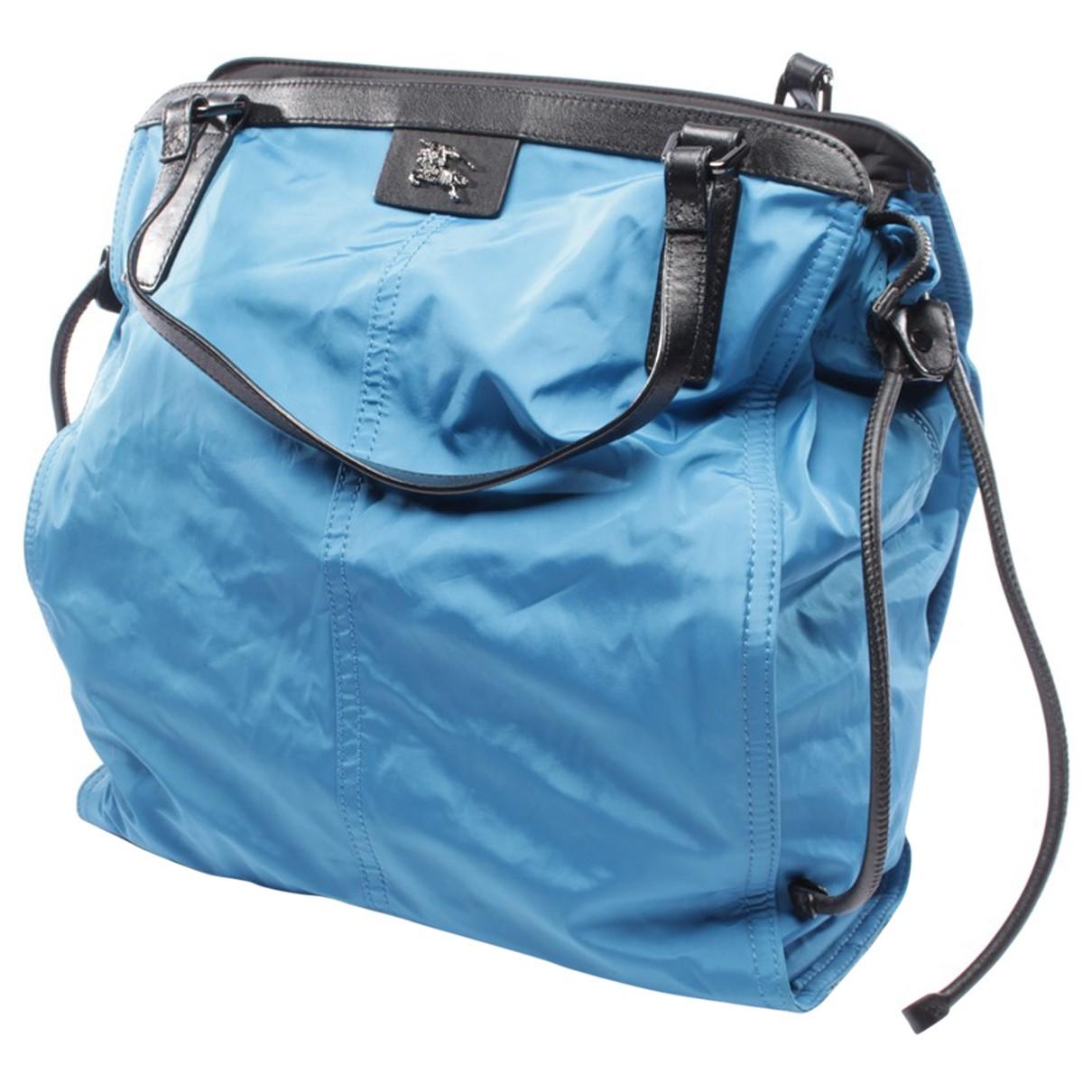 Burberry \N Handtasche in  Blau Polyester