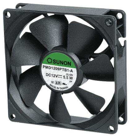 Sunon , 12 V dc, DC Axial Fan, 80 x 80 x 38mm, 143m³/h, 9.1W