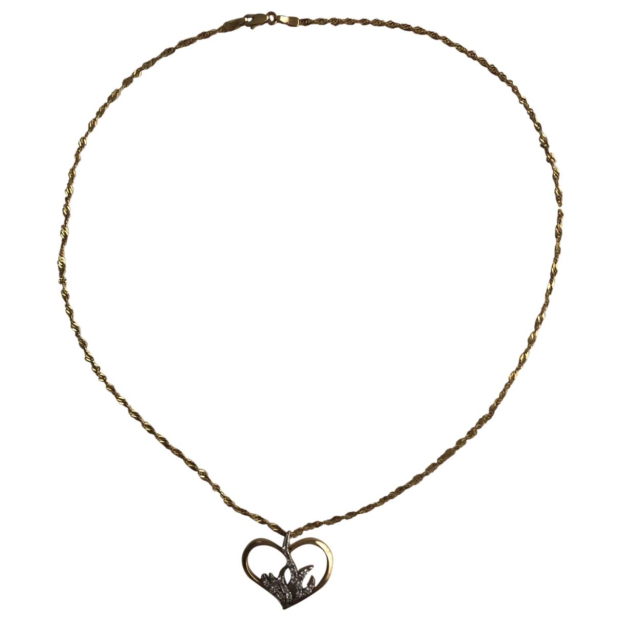 Collar Motifs Coeurs de Oro amarillo Non Signe / Unsigned