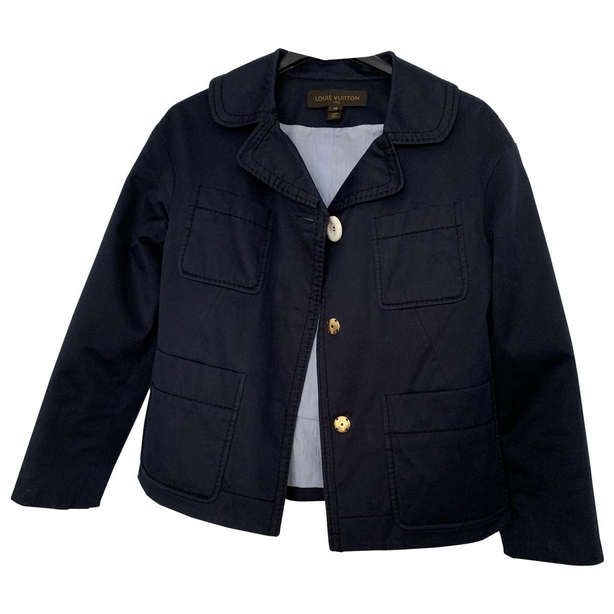 Louis Vuitton \N Navy Cotton jacket for Women 36 FR