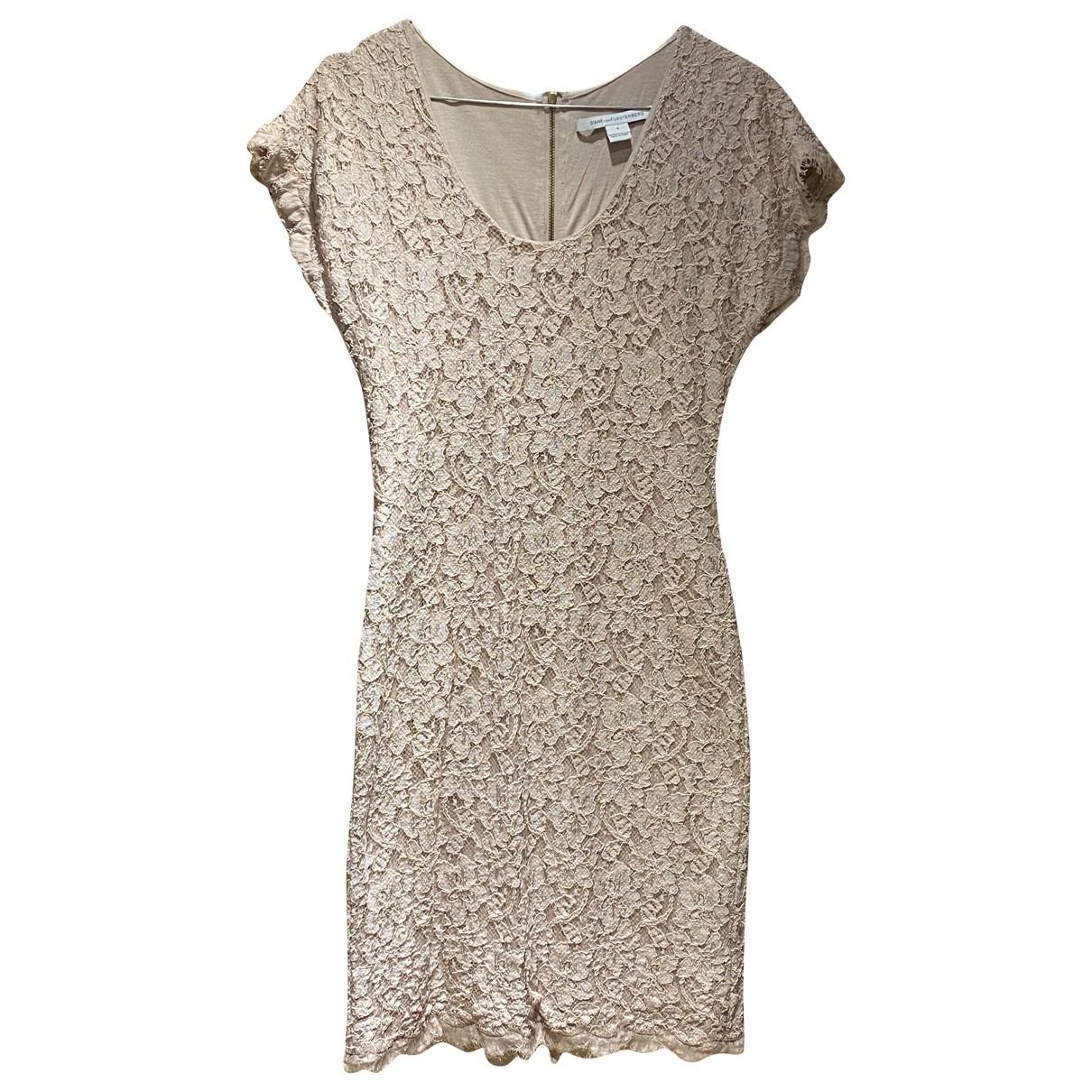 Diane Von Furstenberg - Robe   pour femme en dentelle - beige