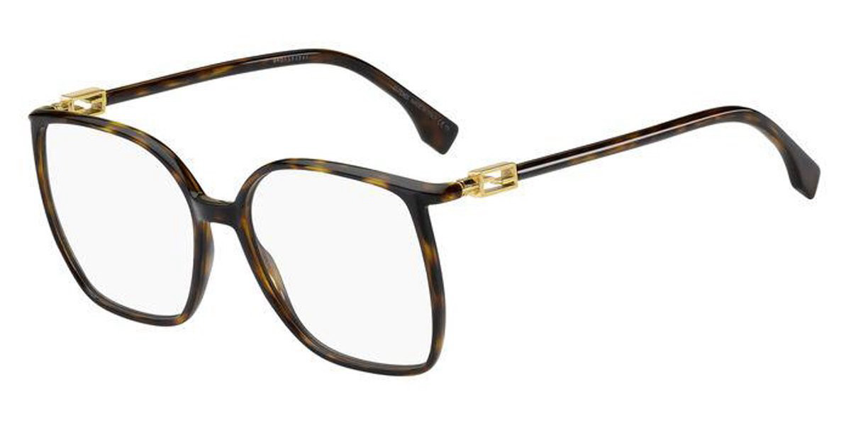 Fendi FF 0441 086 Women's Glasses Tortoise Size 56 - Free Lenses - HSA/FSA Insurance - Blue Light Block Available
