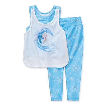 Disney Collection Little & Big Girls 2-pc. Frozen Legging Set, 3 , Blue