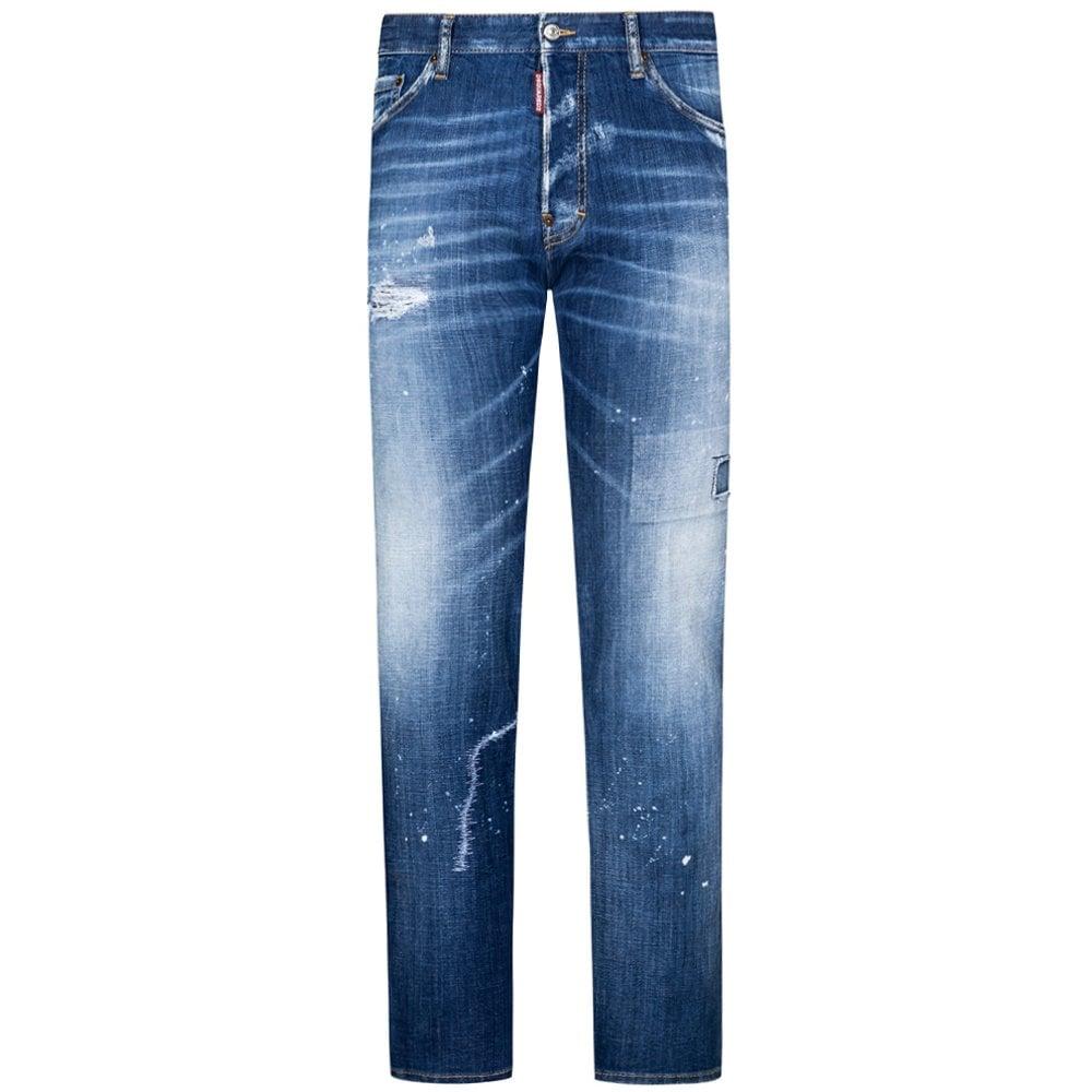 DSquared2 Patch Cool Guy Jeans Colour: LIGHT BLUE, Size: 32 32