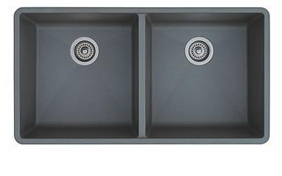 Precis 516319 Undermount Equal Double Sink Bowl  in Metallic