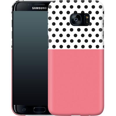 Samsung Galaxy S7 Edge Smartphone Huelle - Coral Dots von caseable Designs