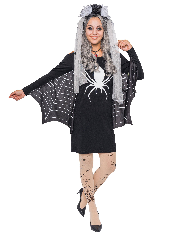 Kleid mit Spinne und Netz 3XL
