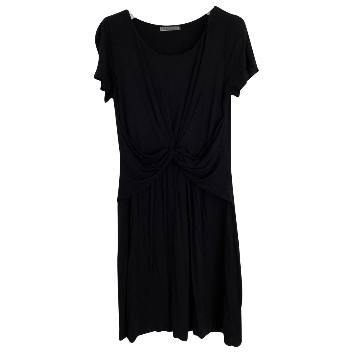 Velvet \N Kleid in  Schwarz Baumwolle - Elasthan