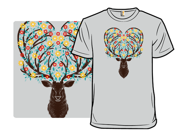 Blooming Deer T Shirt