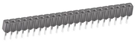 Samtec , CES 2.54mm Pitch 22 Way 1 Row Straight PCB Socket, Through Hole, Through Hole Termination