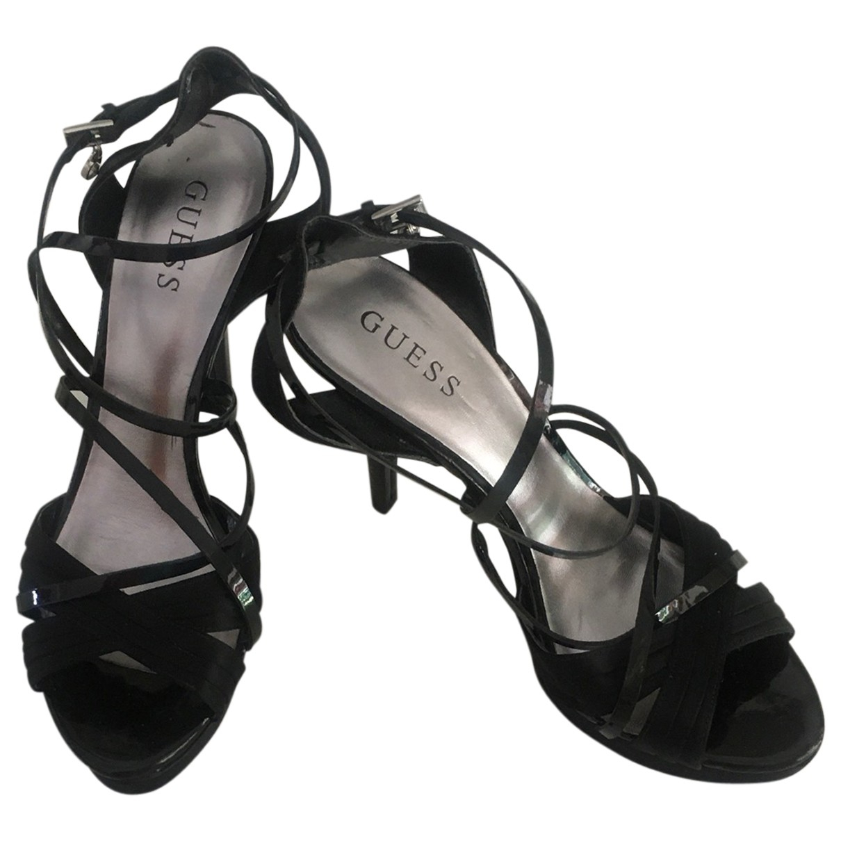Guess \N Black Leather Sandals for Women 40 EU