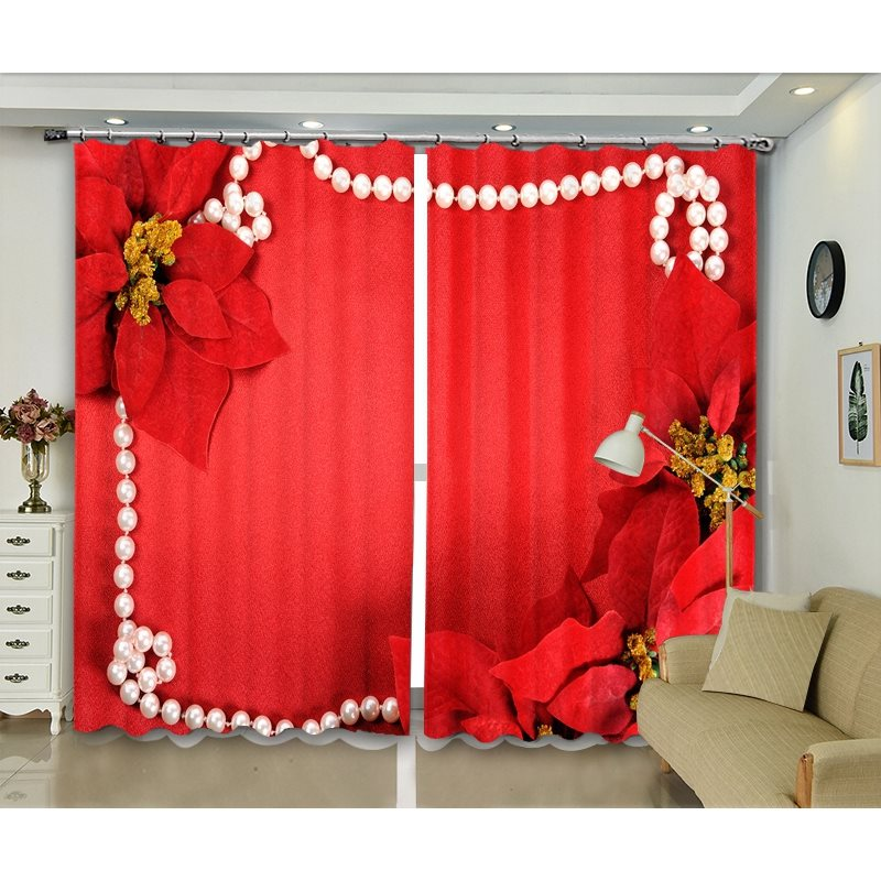 3D Blackout New Year Decorative Burgundy Polyester Curtains Party Backdrop 250g/m² Polyester 80% Shading Rate and UV Rays Environmentally Friendly Pri