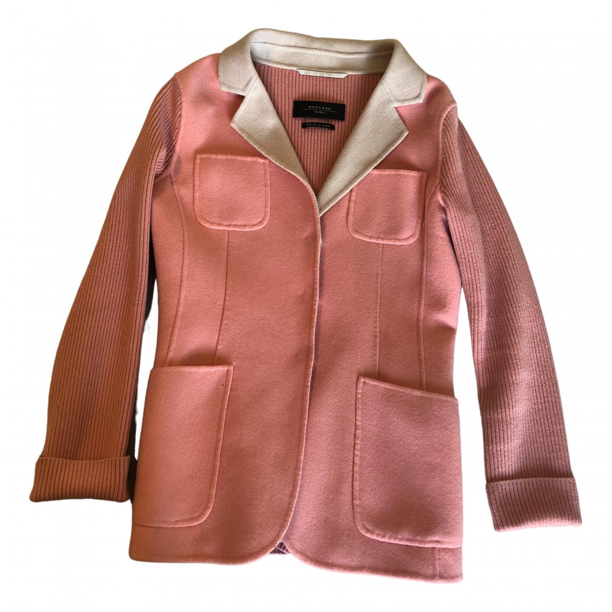 Max Mara Weekend - Veste   pour femme en laine - rose