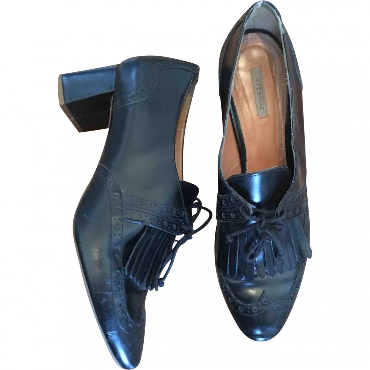 Uterque \N Black Leather Heels for Women 39 EU
