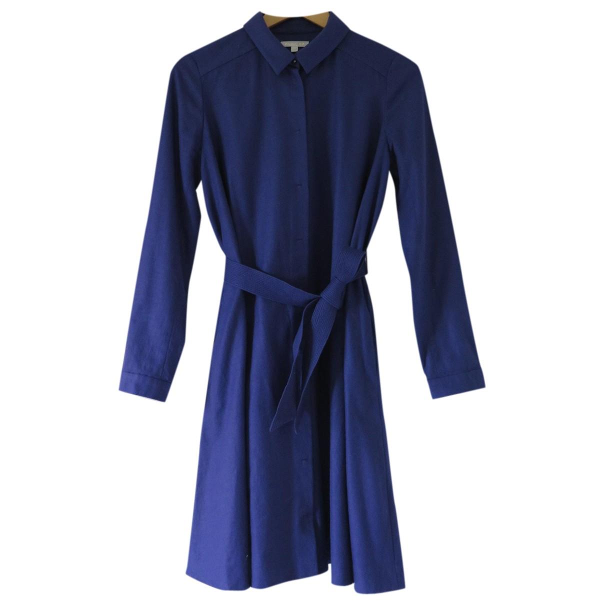 Paule Ka - Robe   pour femme en laine - bleu