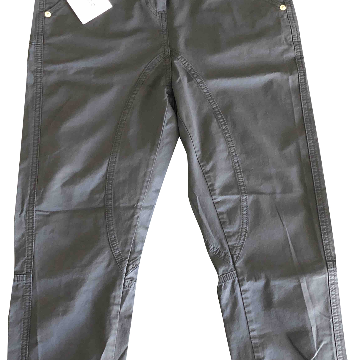 Dondup \N Blue Cotton Trousers for Women 38 IT