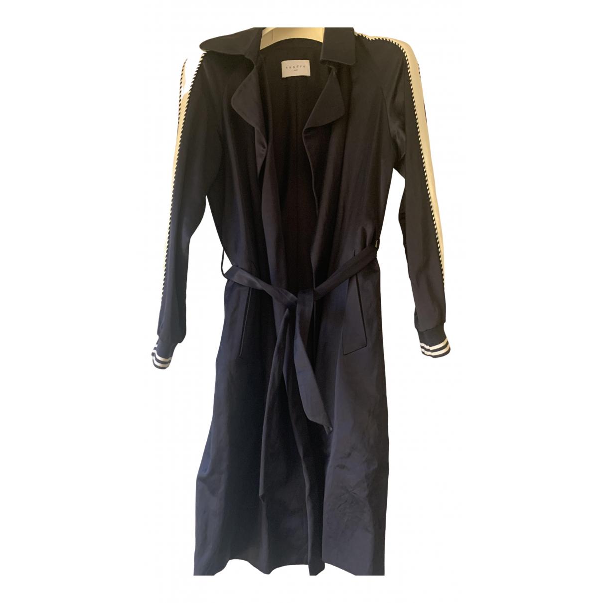 Sandro N Blue coat for Women 36 FR