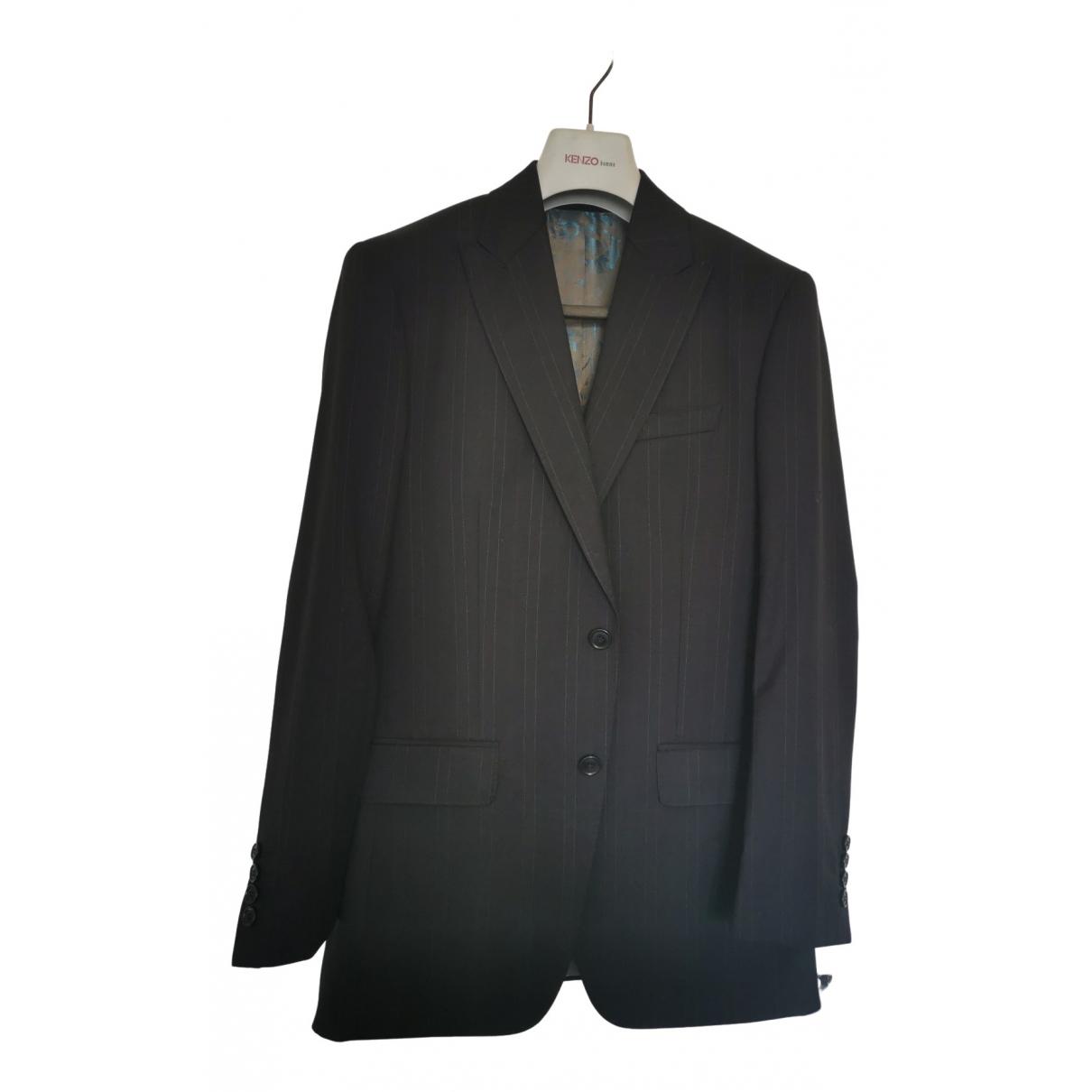 Kenzo N Black Wool Suits for Men 46 FR