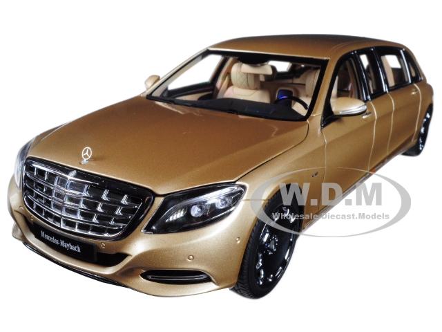 Mercedes Maybach S 600 Pullman Gold 1/18 Model Car by Autoart