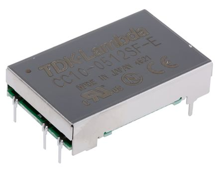 TDK-Lambda 10W Isolated DC-DC Converter Through Hole, Voltage in 4.5 → 9 V dc, Voltage out 12V dc
